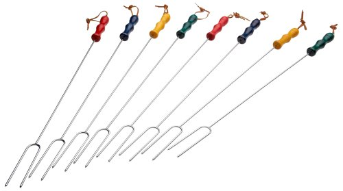 Why Choose Rome Industries CS-2200 Rome's 8 Piece Marshmallow Roasting Fork Set, Chrome Plated with ...