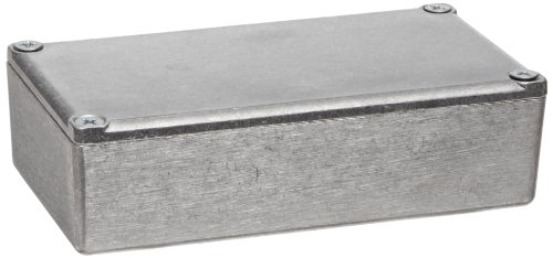 "Bud Industries Cu-124 Aluminum Econobox, 4-23/64"" Length X 2-23/64"" Width X 1-13/64"" Height, Natural Finish"