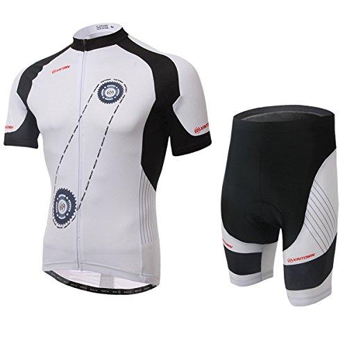 3D Skeleton Pirates Men/'s Cycling Clothing Set Cycle Jersey Shorts Kit Bib