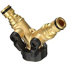 3/4 Inch Brass 2 Way Splitter Hose Tap Connector Garden Irrigation Fitting