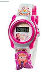 Disney Frozen LCD Watch For Girls With Slide-On Character