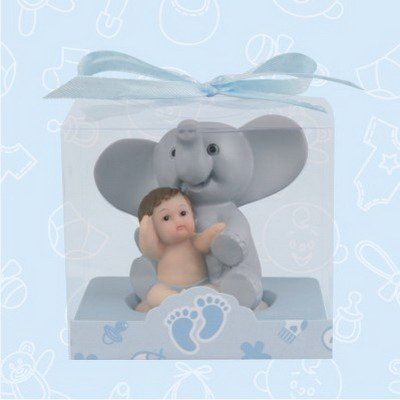 48 Baby Shower Baby Blue Elephant Favors In Box Favors Gift Keepsake Favor front-1075275