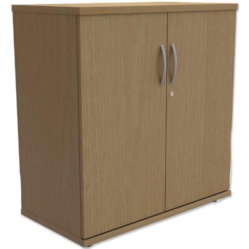 Trexus Low Cupboard with Lockable Doors W800xD420xH853mm Oak Black Friday & Cyber Monday 2014