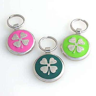 Pet ID Tag - Clover Jewelry Tag- Custom engraved cat and dog ID tags. Jewelry that ensures pet safety.