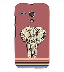 PrintDhaba Elephant D-5492 Back Case Cover for MOTOROLA MOTO G (Multi-Coloured)