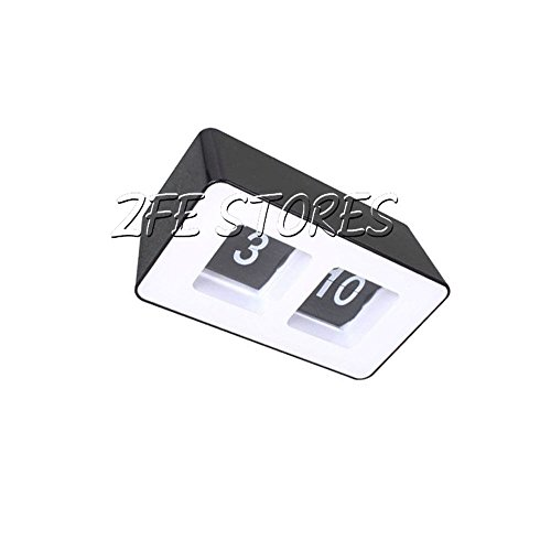 1Pc Black Classic Desktop Automatic Retro Flip Clock front-467836