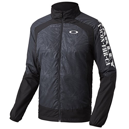 (オークリー)Oakley ENHANCE WIND JACKET 4.8 411903JP 010 Black/Silver M