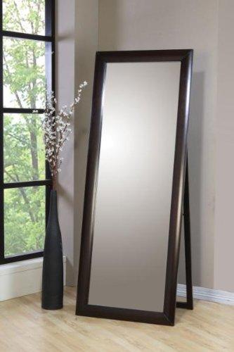 Coaster Phoenix Standing Floor Mirror In Deep Cappuccino Finish front-454986