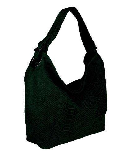 Rue Princesse, Borsa a spalla donna, Verde (Verde scuro), 46x30x9,5 cm (BxHxT)