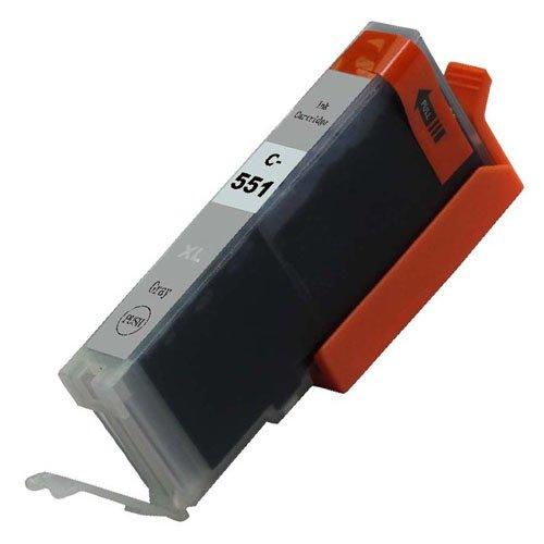 1, Grau, CLI 551 High Capacity Kompatible Tintenpatronen Für Canon Pixma MG6350, iP8750, MG5550, MG6450, MG7150, MX925, MG7550