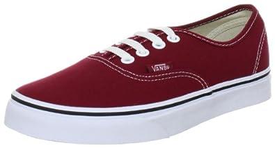 Vans Authentic, Chaussures de skate mixte adulte - Rouge/blanc, 43 EU