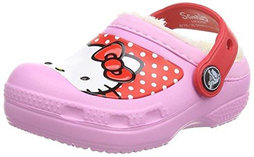 Crocs Hello Kitty Dots Lined EU K, Zoccoli e sabot, Unisex - bambino, Rosa (Carn), 22-24