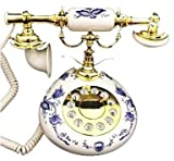 NEW! Antique Replica French Porcelain Phone Blue White