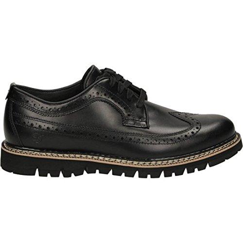 TIMBERLAND A185B black nero scarpe uomo derby inglese lacci 44
