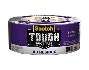 Scotch High Performance Duct Tape, No Residue, 1.88-Inch by 20-Yard