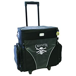 Calcutta CT4010WC Rolling Tackle Bag with Five Removable 370 Tackle Trays, Large by Calcutta