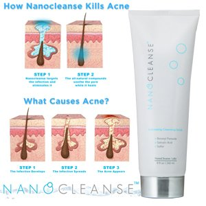 NANOCLEANSE – Exfoliating Cleansing Scrub for Acne Treatment
