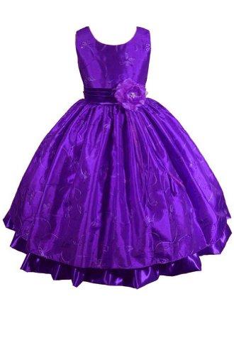 AMJ Dresses Inc Little Girls Purple Flower Girl Easter Dress Size 2 ... 9abc727eb