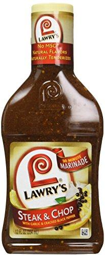 Lawry's 3-Minute Marinade, Steak & Chop Marinade, 12-Ounce Bottles (Pack of 6)