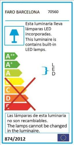 Faro 70560 - KAMAL-2 LED Lampe applique gris foncé
