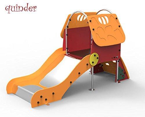 Kleinkinder Spielhaus mit Rutsche - für öffentliche Spielplätze & Kindergärten