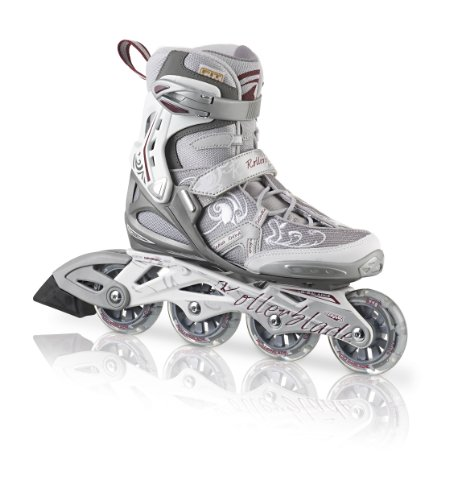 rollerblade-pattini-in-linea-donna-inlineskate-spark-comp-argento-silber-dunkelrot-41