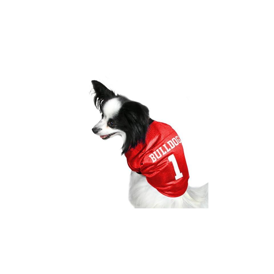 new concept 4fad0 9d57e Georgia Bulldogs #1 Red Dog Football Jersey on PopScreen