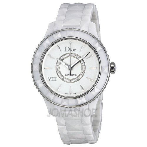 Where to buy christian dior viii automatic white ceramic and stainless steel ladies watch for Christian dior watches