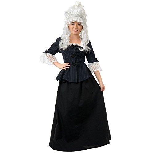 [GSG Martha Washington Costume Kids Colonial Revolutionary War Halloween Dress] (Colonial/revolutionary War Costumes)