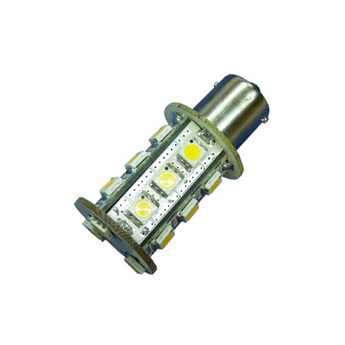 Ledwholesalers Miniature Bulb BS15S 1156 Base Single Contact Bayonet 8-30 Volt 18 x 5050 SMD LED 3.6w Warm White, 1419WW