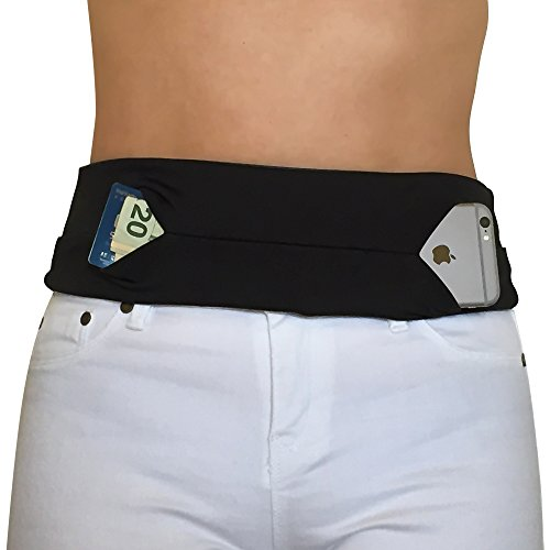 Running Belt for Fitness/Travel/Money/Workout By Apparatuz - No Bounce/Buckle/Chaffing. One Size Fits All. Comfortable Runners Waist Fanny Pack. Waterproof Dual Pockets Fits Most Phones/iPhone. Experience Hands Free Secure Freedom Now!