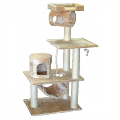 GoPetClub Cat Tree Condo House Pet Scratcher Post Furniture F28