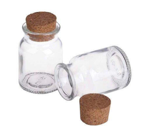 Bottiglie 150 korkglas 12 bottiglia di pezzi ml korkflasche contenitore vasetti delle sughero - Bottiglie vetro ikea ...