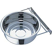Pets Empire Stainless Steel 96 Oz Cage Coop Clamp Bolt Cup Bird Dog Food Water Bowl-2800 Ml