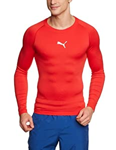 Puma Men's Long-Sleeved Shirt Tight-Fitting with Round Neck puma red Size:M