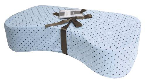 Kushies Nursing Pillow, Blue Polka Dots