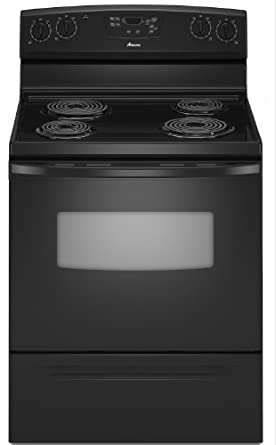 Amana 4.8 cu. ft. Self-Cleaning Electric Range, AER5523XAB, Black