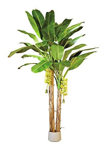 Arbre artificiel, Bananier avec 2 troncs et 29 feuilles, 440 cm - palmier artificiel / plante bananier - artplants