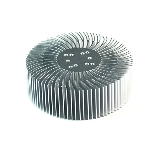 5Pcs 3.5X1.2Inch Round Spiral Aluminum Alloy Heat Sink For 1W-10W Led Silver White