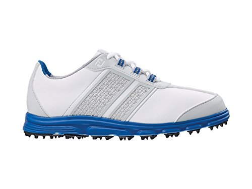 FootJoy Junior Superlite CT Spikeless Golf Shoes 45045 2014 CLOSEOUT White/Blue Medium 5Y