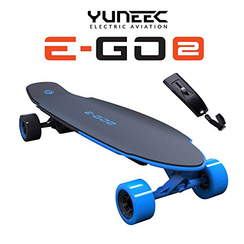 YUNEEC E-GO 2 Electric SkateBoard LongBoard EGO Royal Wave Blue - New!...