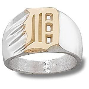 Sterling Silver DETROIT TIGERS D 7 16 RING SZ 11 by Logo Art