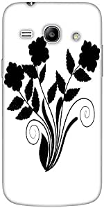 Snoogg abstract silhouette of decor floral elements Hard Back Case Cover Shield For Samsung Galaxy Core 2