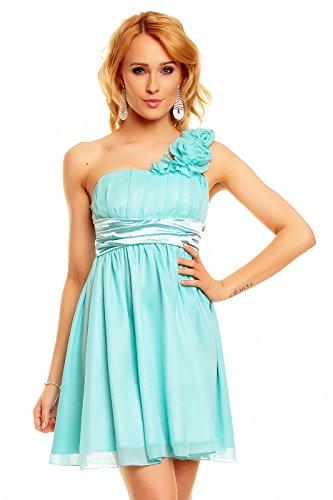 ... Kleid Cocktailkleid Partykleid Empire Babydoll, hellblau aqua M 38