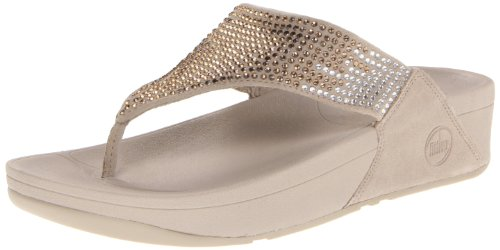 Fitflop Women'S Flare Flip Flop,Pebble,10 M Us
