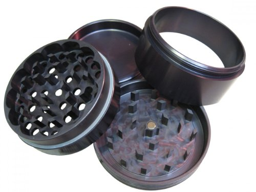 Space Case Grinder / Sifter Large Titanium - 4 pc.