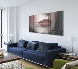 acrylglasbild wandbild hinter acrylglasbilder acrylglas bild rote lippen p0883 agp 100x50 cm. Black Bedroom Furniture Sets. Home Design Ideas