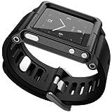 Alienwork Pod2Watch Kit de relojes für iPod Nano 6 Funda protectora Aluminio negro AN601A-06