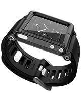 Alienwork Pod2Watch Cinturino per iPod Nano 6 Band Kits Alluminio nero AN601A-06