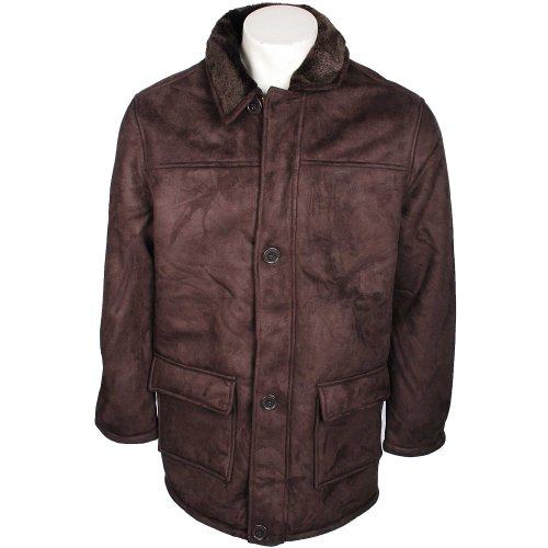 Harbour Bay Mens Chocolate Mid Length Bonded Jacket in Size 2XL